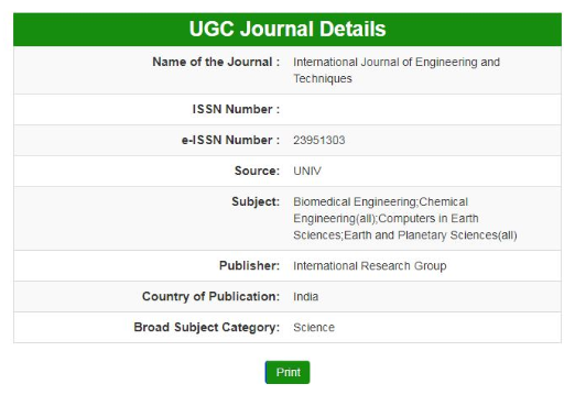 IJET International Journal of Engineering and Techniques